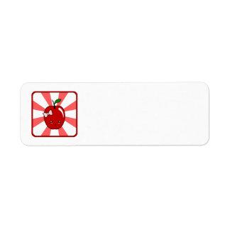 Kawaii Apple (Girl) Return Address Labels