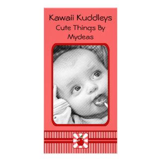 Kawaii Apple (Girl) Personalized Photo Card