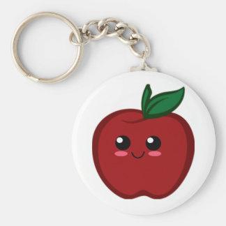 Kawaii Apple Llavero Redondo Tipo Pin