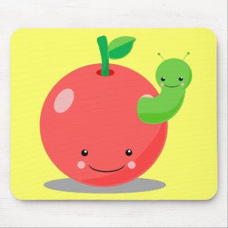 kawaii apple mouse pad