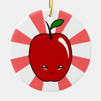 Kawaii Apple muchacho Ornamentos De Reyes