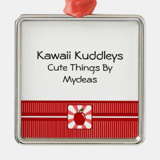 Kawaii Apple (muchacho) Adorno De Navidad