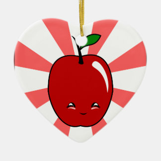 Kawaii Apple muchacho Ornamento De Navidad