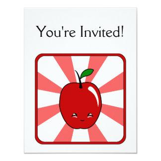 """Kawaii Apple (muchacho) Invitación 4.25"""" X 5.5"""""""