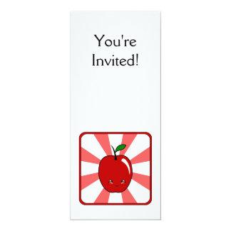 """Kawaii Apple (muchacho) Invitación 4"""" X 9.25"""""""
