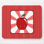 Kawaii Apple (muchacho) Tapetes De Raton