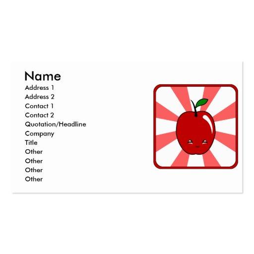 Kawaii Apple (muchacho) Tarjetas De Visita
