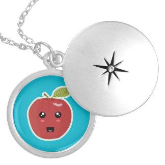 Kawaii Apple Round Locket Necklace