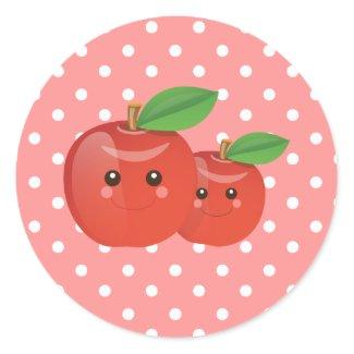 Kawaii Apple Pink Stickers sticker