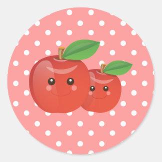 Kawaii Apple Pink Stickers