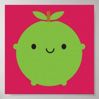 Kawaii Apple Póster
