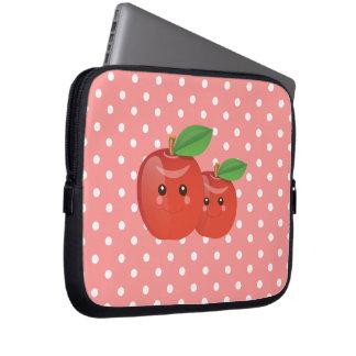 Kawaii Apples- Laptop Case Laptop Sleeve Case