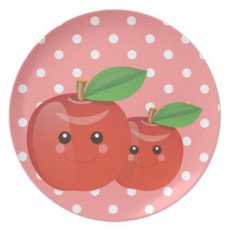 Kawaii Apples - Plate