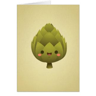Kawaii Artichoke Greeting Card
