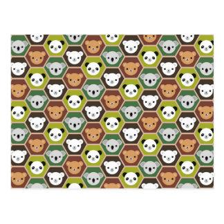 Kawaii Autumn Bears Postcard
