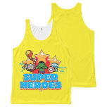 Kawaii Avenger Super Heroes Graphic All-Over-Print Tank Top