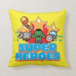 Kawaii Avenger Super Heroes Graphic Throw Pillow