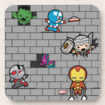 Kawaii Avengers Brick Wall Pattern Coaster