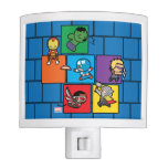 Kawaii Avengers In Colorful Blocks Night Light