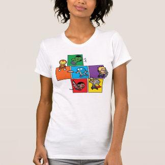 Kawaii Avengers In Colorful Blocks T-Shirt