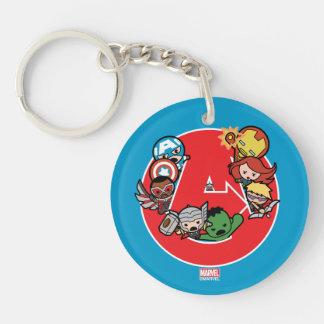 Kawaii Avengers Inside A-Logo Keychain