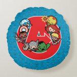 Kawaii Avengers Inside A-Logo Round Pillow