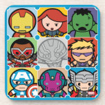 Kawaii Avengers Vs Ultron Pattern Coaster
