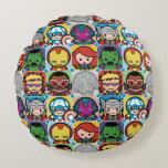 Kawaii Avengers Vs Ultron Pattern Round Pillow