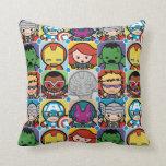 Kawaii Avengers Vs Ultron Pattern Throw Pillow