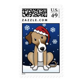 Kawaii Azawakh Christmas Stamps