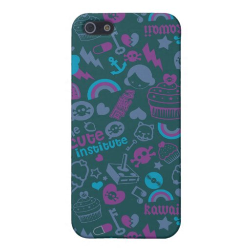 kawaii azul iPhone 5 carcasa