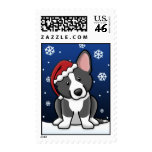 Kawaii B&W Cardigan Welsh Corgi Christmas Stamps