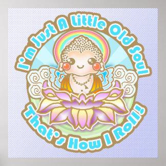 Kawaii Baby Buddha Little Old Soul - Poster