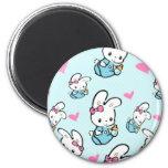 Kawaii Baby Bunny rabbit 2 Inch Round Magnet