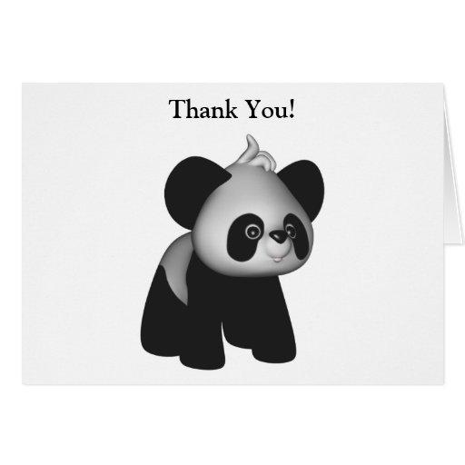 Kawaii Baby Panda Thank You Card