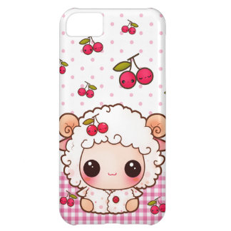 Kawaii baby sheep and cute cherries cover for iPhone 5C
