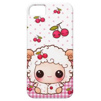 Kawaii baby sheep and cute cherries iPhone 5 case