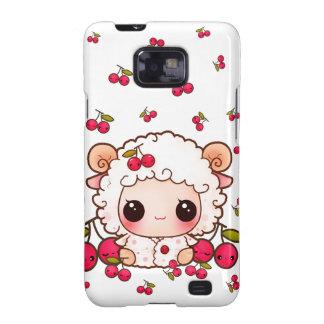 Kawaii baby sheep and cute cherries galaxy s2 covers