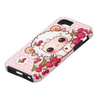 Kawaii baby sheep and cute cherries iPhone 5 cover