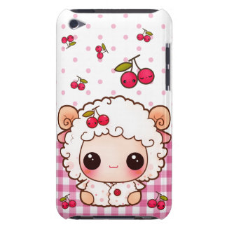 Kawaii baby sheep and cute cherries barely there iPod case
