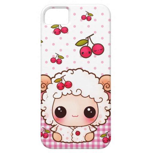 Kawaii baby sheep and cute cherries iPhone SE/5/5s case : Zazzle