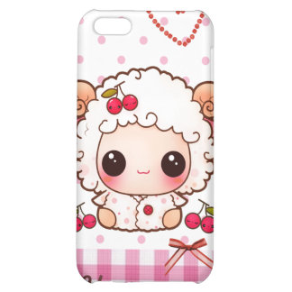 Kawaii baby sheep and cute cherries - Personalized iPhone 5C Case