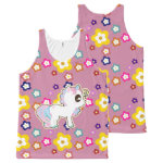 Kawaii Baby Unicorn Flower Power Fashion pink All-Over Print Tank Top