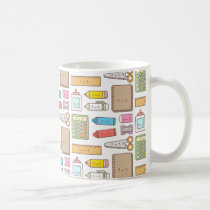 Kawaii Back to School Pattern Girls Mug
