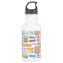 Kawaii Back to School Supplies Pattern For Girls Stainless Steel Water Bottle