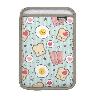 Kawaii Bacon & Fried Egg Deconstructed Sandwich iPad Mini Sleeve