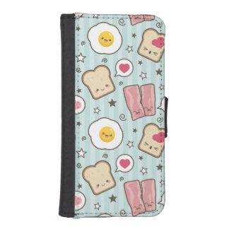Kawaii Bacon & Fried Egg Deconstructed Sandwich iPhone SE/5/5s Wallet Case
