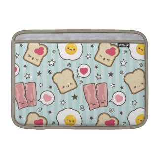 Kawaii Bacon & Fried Egg Deconstructed Sandwich MacBook Air Sleeve