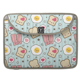 Kawaii Bacon & Fried Egg Deconstructed Sandwich Sleeve For MacBooks