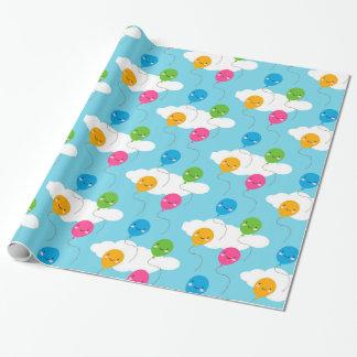 Kawaii Balloons Gift Wrap Paper